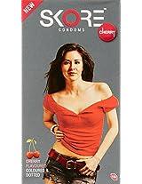 Skore Condoms Cherry - 10 Count