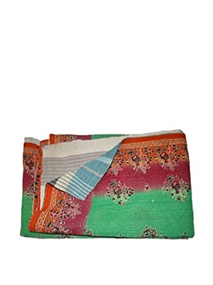 Vintage Aakaanksha Kantha Throw, Multi, 60