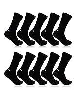Bonjour Men's Black Cotton 10 Pair Health Socks _BS220-BK-PO10