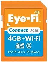 Eye-Fi Connect X2 4 GB Class 6 SDHC Wireless Flash Memory Card EYE-FI-4CN