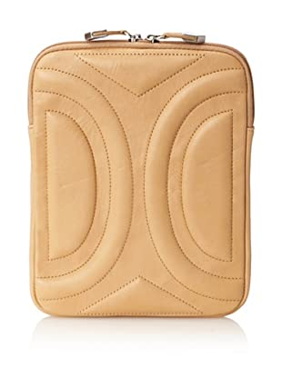 Allibelle Women's Trapunto Curved iPad Case (Natural)