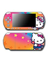 Hello Kitty Rainbow Stars Lollipop Video Game Vinyl Decal Skin Sticker Cover For Sony Psp Playstation Portable Slim 3000 Series System