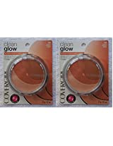 Cover Girl Clean Glow Blusher Peaches 110 2 Pack Set!