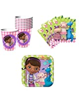 Doc McStuffins Birthday Party Supplies Set Plates Napkins Cups Kit for 16