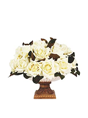 Creative Displays Roses in Cream & Gold Pot (Cream)