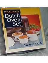 Microwave Magic 3piece Dutch Oven Set.