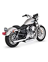 Vance & Hines 3in Round Twin Slash Slip-On Mufflers - Chrome Color: Chrome 16839