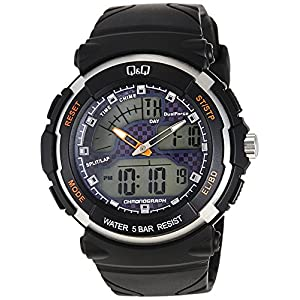 Q&Q Standard Dual Time Analog-Digital Blue Dial Men's Watch M012-003