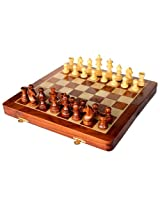 "12"" x 12″ Collectible Wooden Folding Chess Game Board Set+Wooden Magnetic Crafted Pieces (Delivery < 7 Days)"