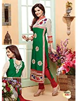 New Designer Green And Red Salwar Suit FA221-8202