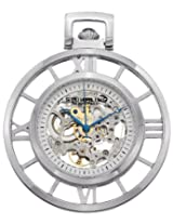 "Stuhrling Original 713.01 ""Montres de Poche Ancestor"" Stainless Steel Skeleton Pocket Watch"