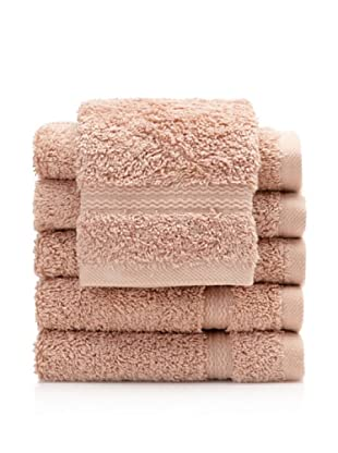 Royal Ascot by Chortex Set of 6 Wash Cloths, Beige