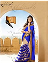 Sitaram Creation Georgette Saree (W-S-6009 _Blue)