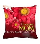 Me Sleep Floral Design I Love You Mom Mother's Day Special Cushion Cover