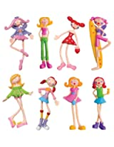 Toysmith Bendi Dolls #98350 8 Pack