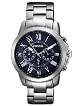 Fossil Grant Chronograph Blue Dial Men's Watch - FS4831I