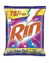 Rin Detergent Powder - 6 kg