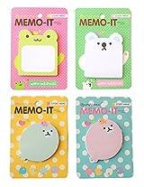 MEMO-IT Yoofun Cute Sticky Note pad Set of 4