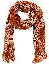 MALTDZ Women's Polyester Scarf (Light Brown)