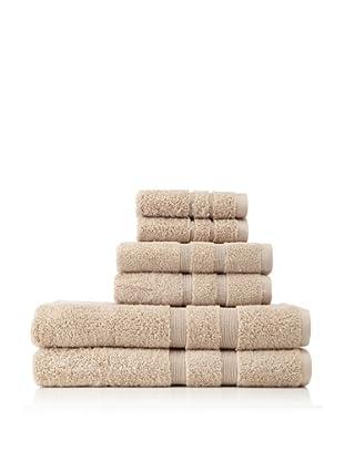 Esplama 6-Piece Mandarin Bath Towel Set, Khaki Taupe