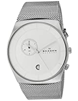 Skagen End-of-Season Havene Chronograph White Dial Men's Watch - SKW6071