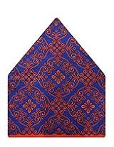Tiekart Floral Print Polyester Pocket Square (Ps512_Blue)