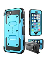 iPhone SE Case, [Armorbox] i-Blason built in [Screen Protector] [Full body] [Heavy Duty Protection ]/Holster/Bumper Case for Apple iPhone SE 2016 Release/Compatible with iPhone 5S/5 (Blue)