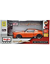 Maisto 1967 Ford Mustang GT Remote Control Toy Car (Orange)