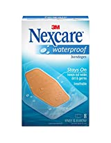 Nexcare Waterproof Clear Bandages, Knee & Elbow-8ct