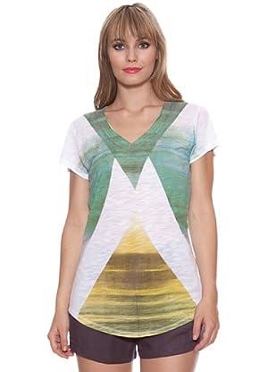 Santa Barbara Camiseta Geométrica (Verde)