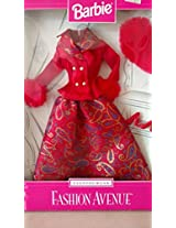 Mattel Barbie Fashion Avenue Eveningwear 1997 Blue And Gold Gown(Blue)