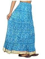 Rajrang Turquoise Partywear Printed Women Skirts