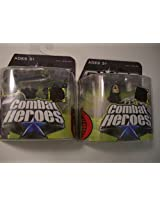 2 Gi Joe Toy Figure Combat Heroes Snake Eyes Baroness the Rise of Cobra Collection