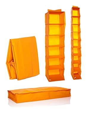 Compactor Set de 4 Organizadores de Armario Naranja