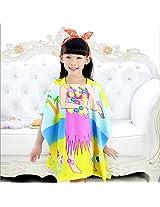 Baby Girls Polyester Fiber Bathroom Robes Towels Shower Cartoon Hooded Soft Washcloth Blankets Beach Children (#3)