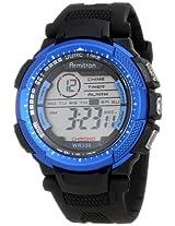 Armitron Sport Men's 40/8277BLU Metallic Blue Accented Black Resin Strap Chronograph Watch