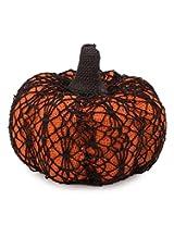 Small Crochet Pumpkin Halloween Accent