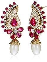 Ava Drop Earrings for Women (Pink) (E-SD-2196)