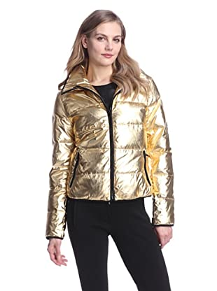 Clique Couture Women's Short Down Puffer Jacket (Gold)