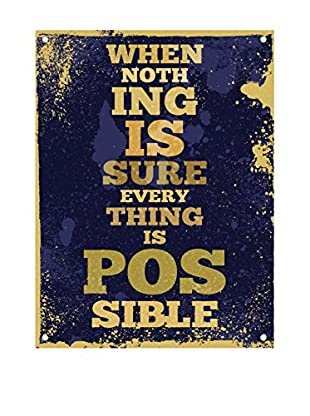 Really Nice Things Chapa Metal Sign Nothing Imposible