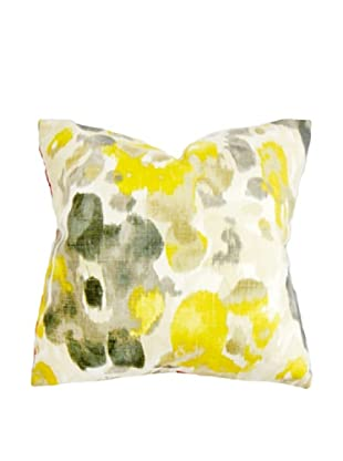 The Pillow Collection Delyne Floral Pillow, Yellow/Black