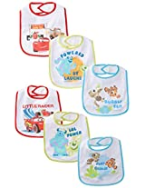 Disney Baby-Boys  6 Pack Pixar Bibs