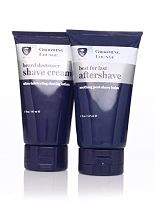 Grooming Lounge Beard Destroyer Shave Cream and Best for Last Aftershave, 2 Pack