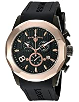 Swiss Legend Men's 10042-BB-01-RB Monte Carlo Chronograph Black Textured Dial Black Silicone Watch
