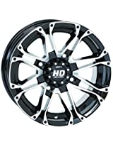 4/110 STI HD3 Alloy Wheel 12x7 5.0 + 2.0 Black Machined BOMBARDIER HONDA JOHN DEERE KAWASAKI KYMCO POLARIS SUZUKI YAMAHA