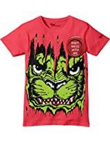 Glow in Dark Kids T-Shirt, Don't Mess With Me Angry Design by Grasshopr