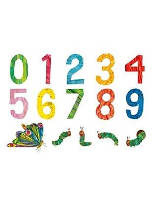 Beiwanda Kids Wandtattoo Die kleine Raupe Nimmersatt - Zahlen Set