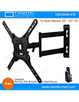 "Tanotis Imported 6 Way Swivel Tilt TV Wall mount for LCD/LED TV's upto 32"" to 47"" inch for flat wall or Corner Mounting with VESA upto 400 MM TAN WVM 47E + Free TANOTIS Remote Stand TAN ACC RMS"