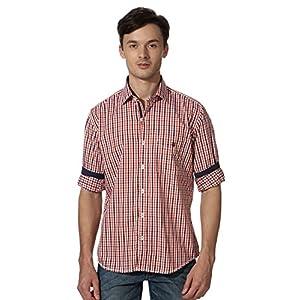 Louis Philippe Plaid Cotton Shirt
