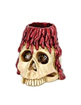 Beistle Skull and Candle Tea Light Holder, 6-Ounce